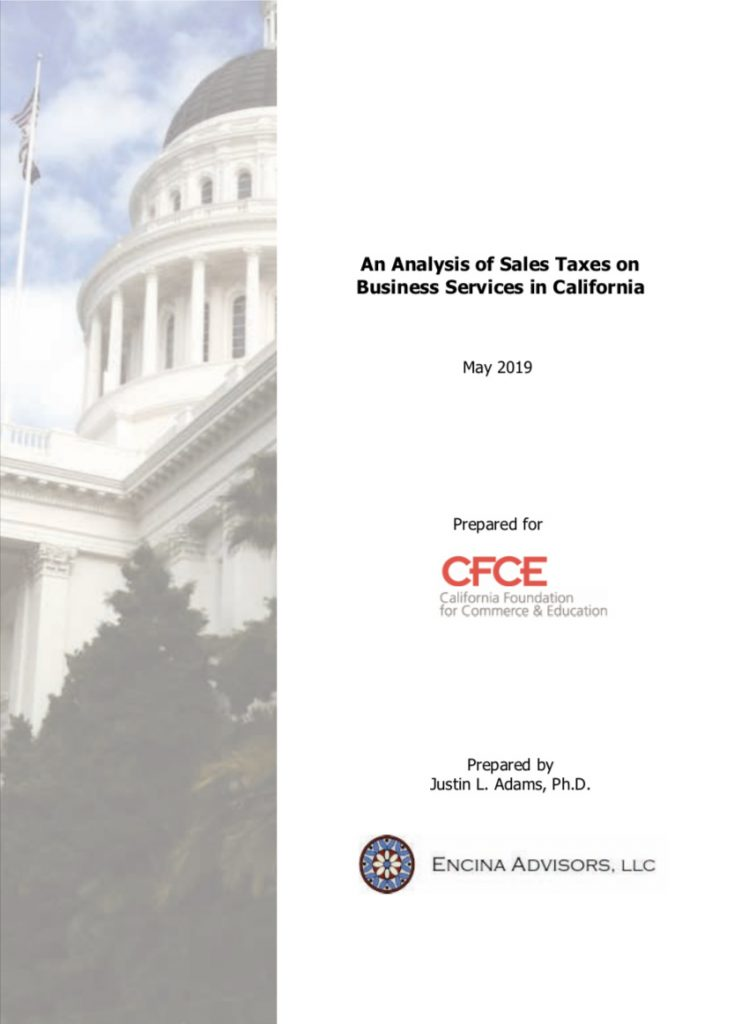 An Analysis of Sales Taxes on Business Services in California